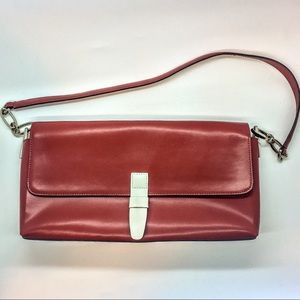 NWOT Preston & York Red Leather Clutch Purse